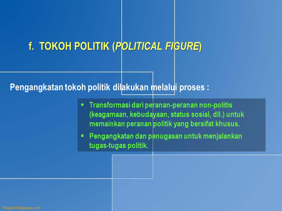 TOKOH POLITIK (POLITICAL FIGURE)