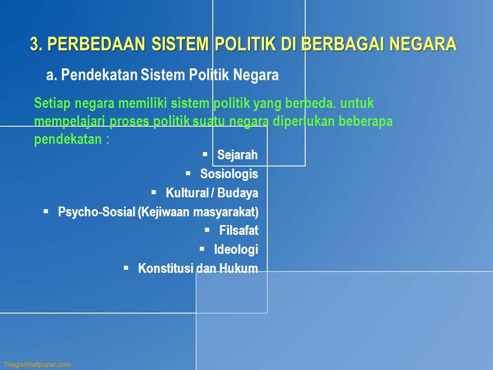 3. PERBEDAAN SISTEM POLITIK DI BERBAGAI NEGARA