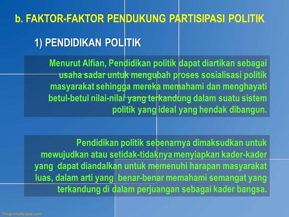 FAKTOR-FAKTOR PENDUKUNG PARTISIPASI POLITIK