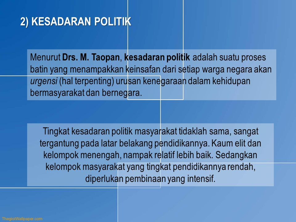 2) KESADARAN POLITIK