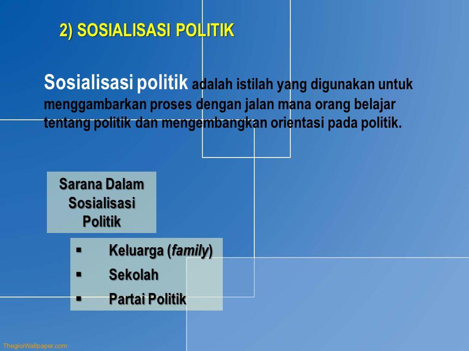 Sarana Dalam Sosialisasi Politik