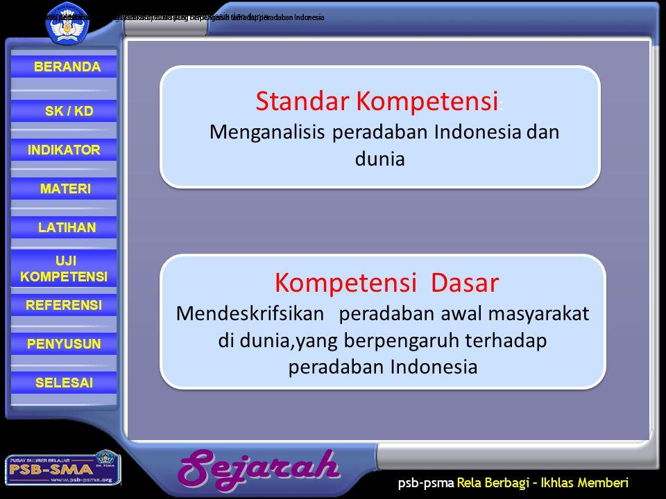 Menganalisis peradaban Indonesia dan dunia