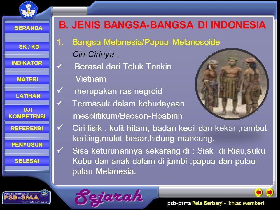 B. JENIS BANGSA-BANGSA DI INDONESIA