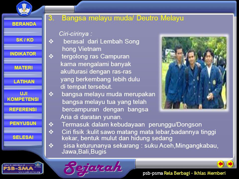 Bangsa melayu muda/ Deutro Melayu