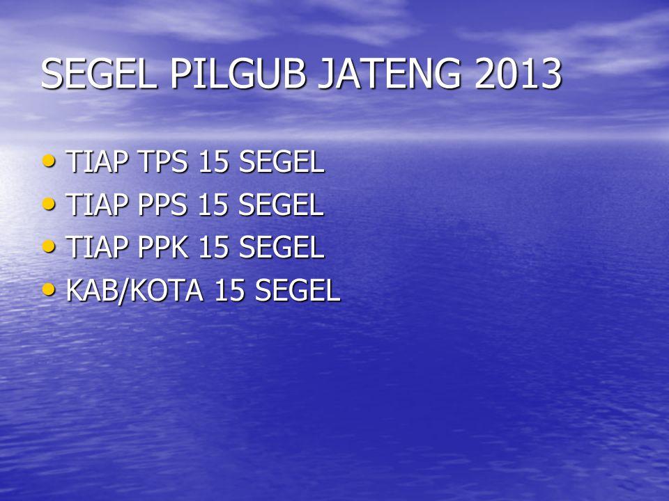 SEGEL PILGUB JATENG 2013 TIAP TPS 15 SEGEL TIAP PPS 15 SEGEL