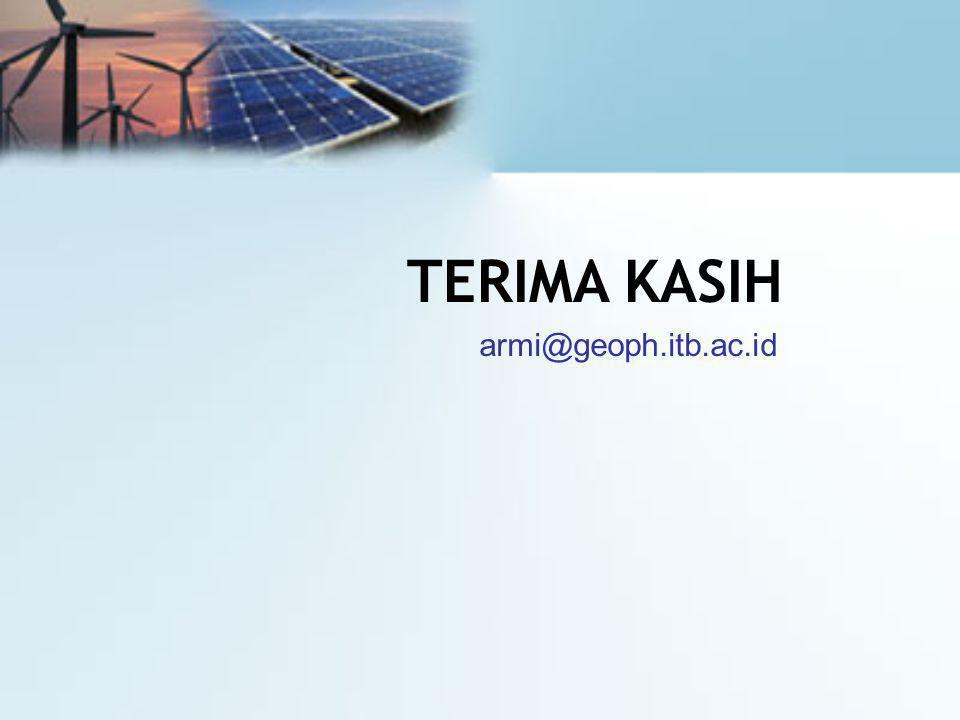 TERIMA KASIH armi@geoph.itb.ac.id