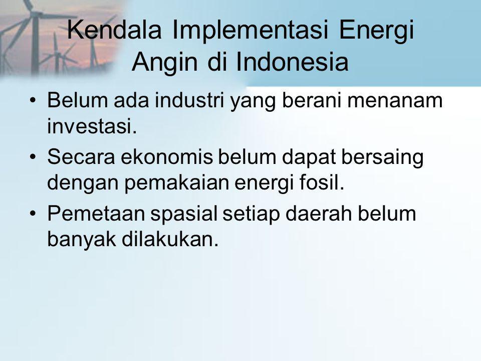Kendala Implementasi Energi Angin di Indonesia