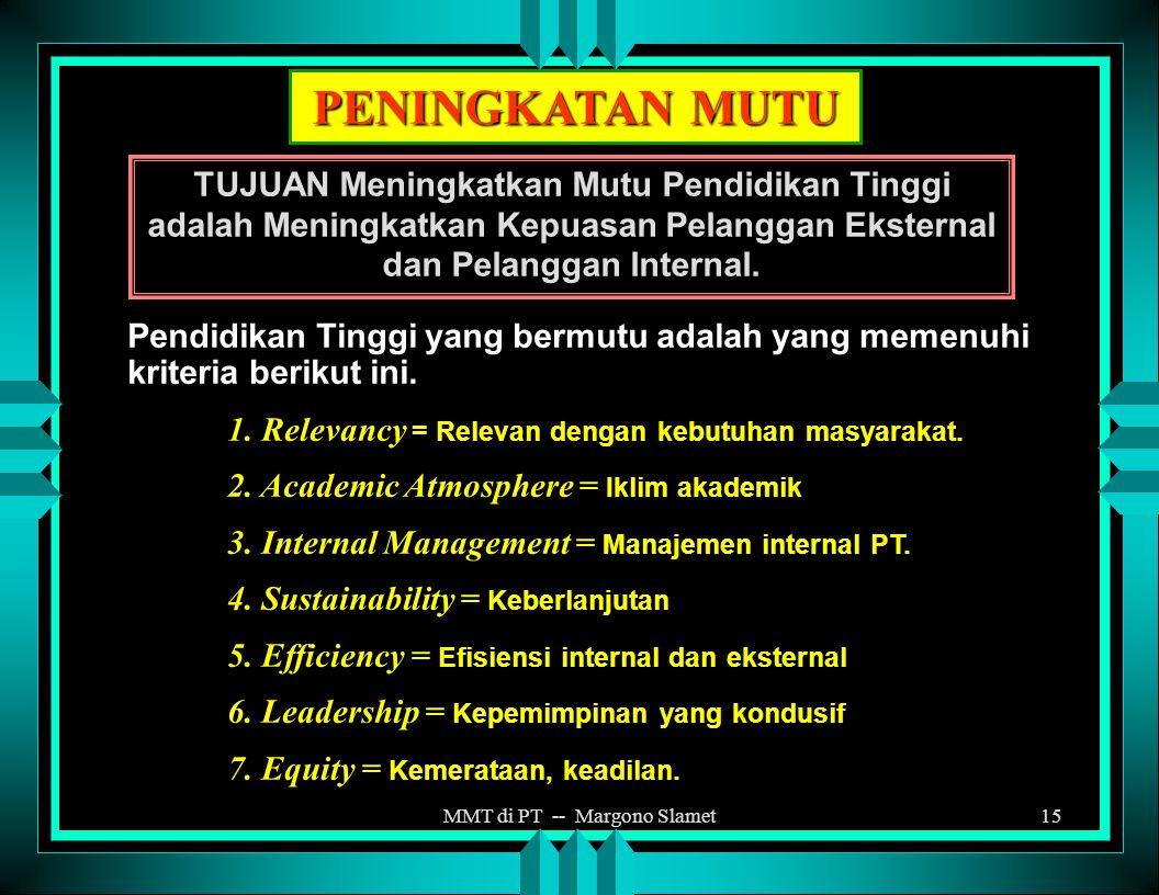 MMT di PT -- Margono Slamet