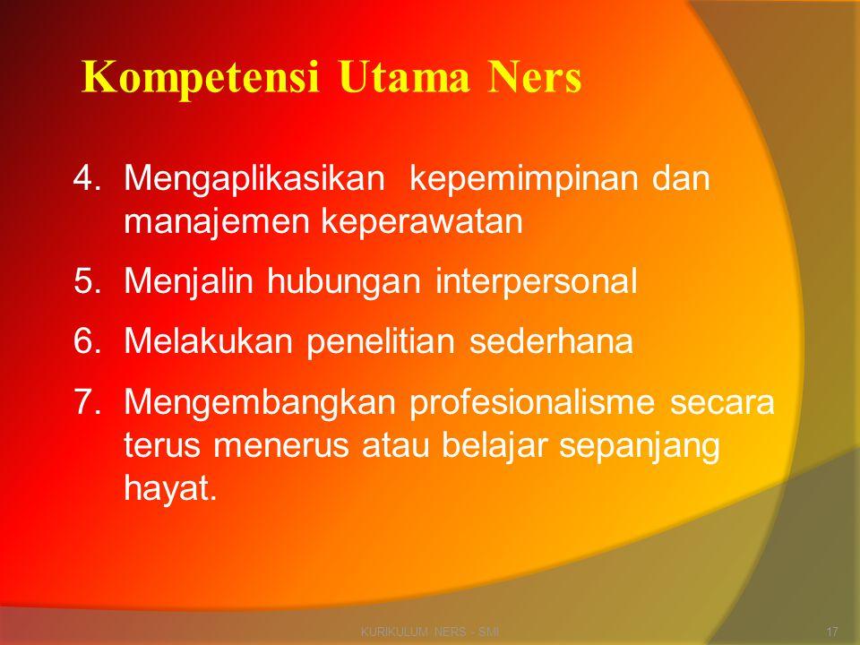 Kompetensi Utama Ners
