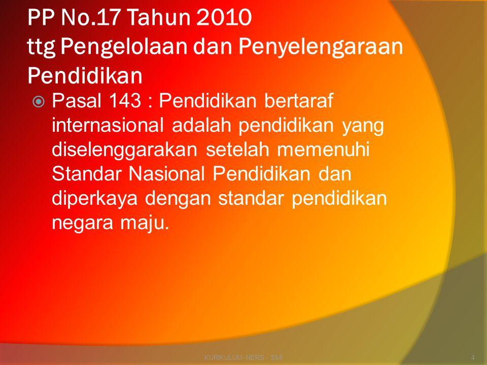 PP No.17 Tahun 2010 ttg Pengelolaan dan Penyelengaraan Pendidikan