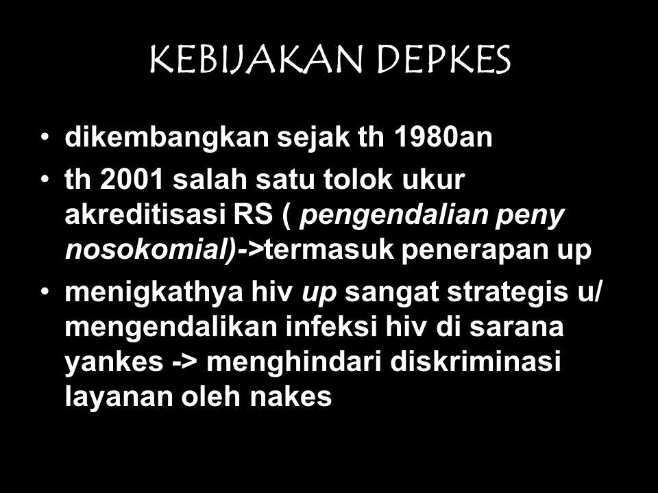 KEBIJAKAN DEPKES dikembangkan sejak th 1980an