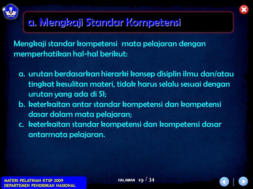 a. Mengkaji Standar Kompetensi