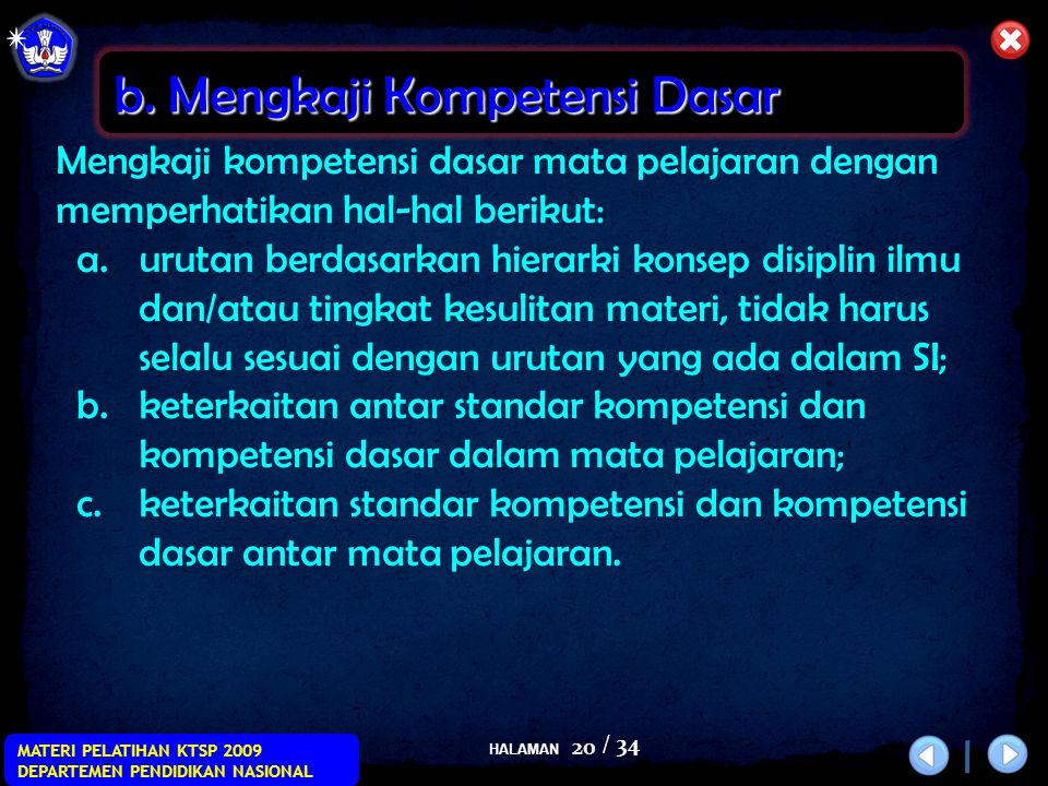 b. Mengkaji Kompetensi Dasar