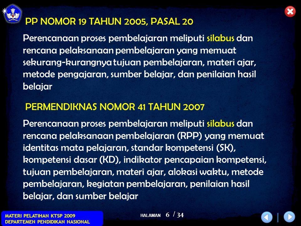 PP NOMOR 19 TAHUN 2005, PASAL 20