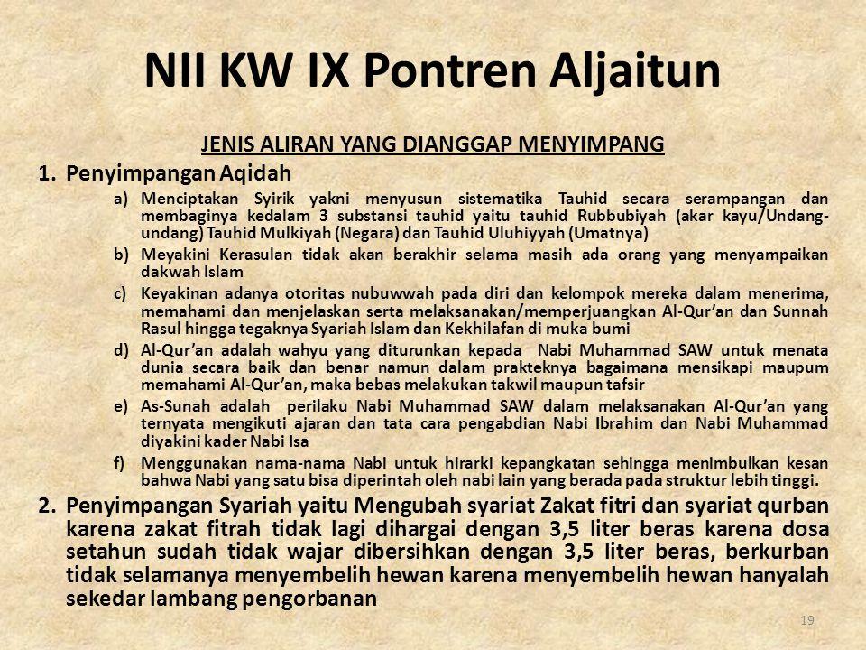 NII KW IX Pontren Aljaitun