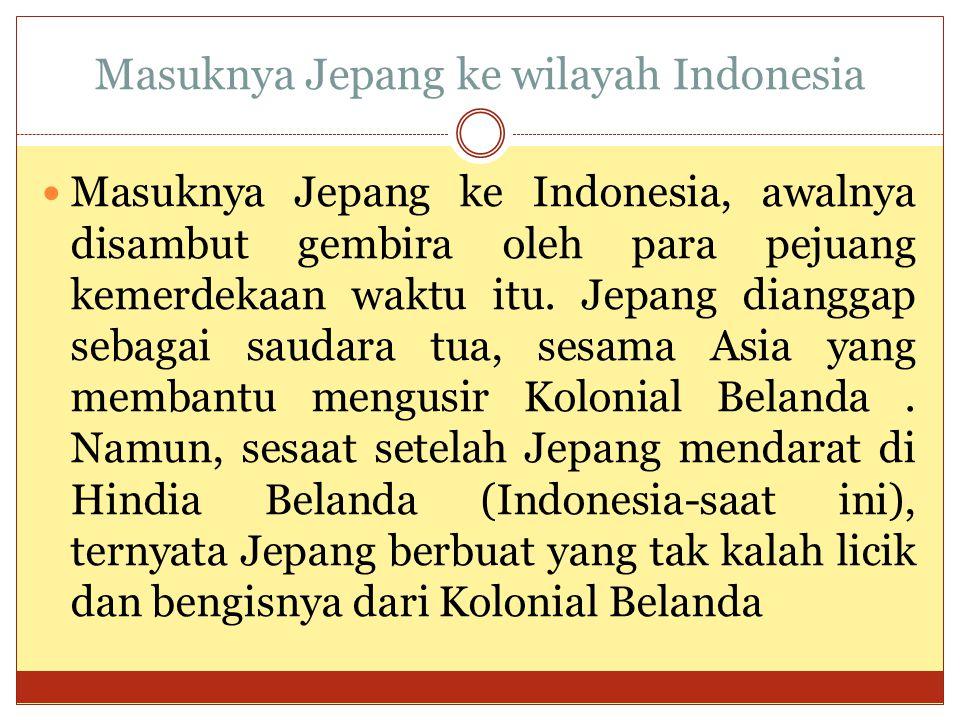 Masuknya Jepang ke wilayah Indonesia