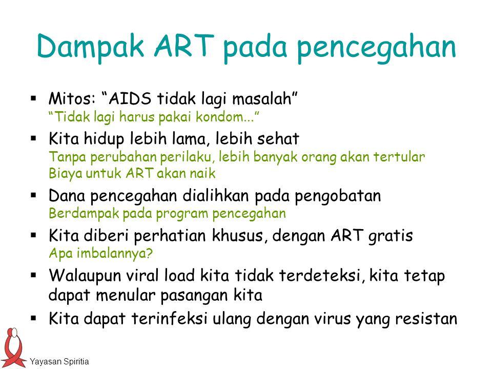 Dampak ART pada pencegahan