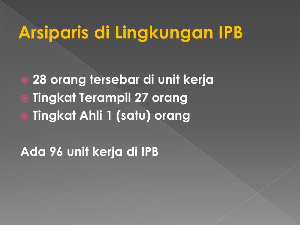 Arsiparis di Lingkungan IPB