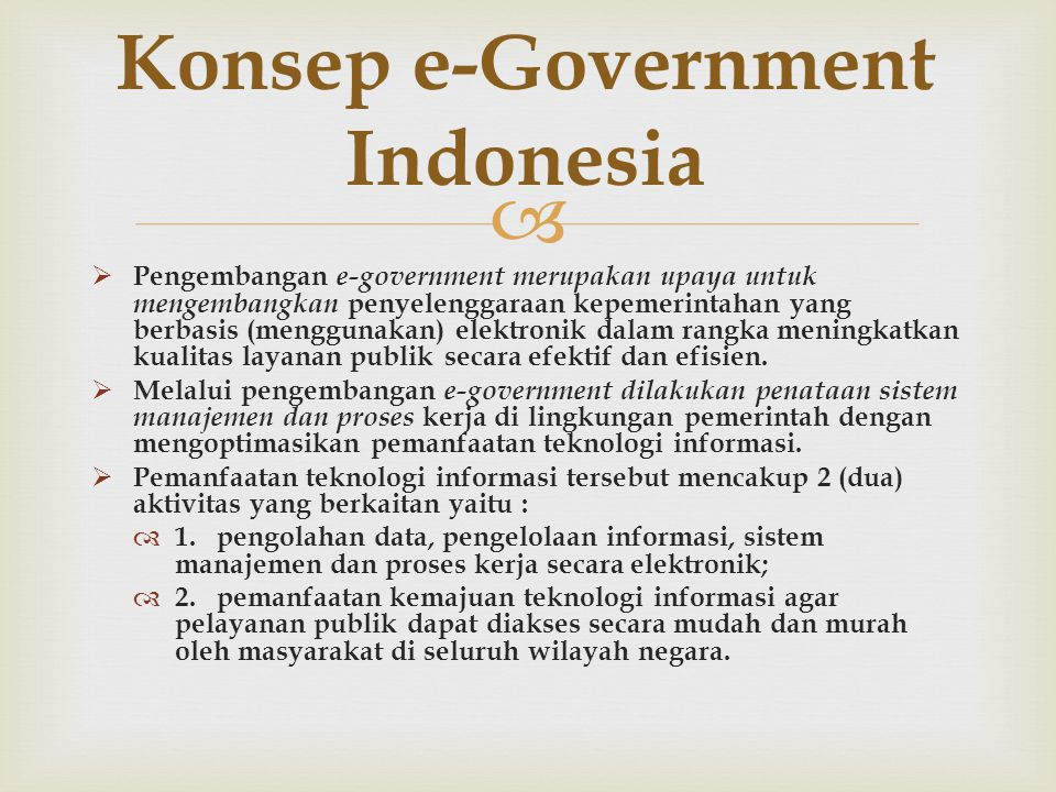 Konsep e-Government Indonesia