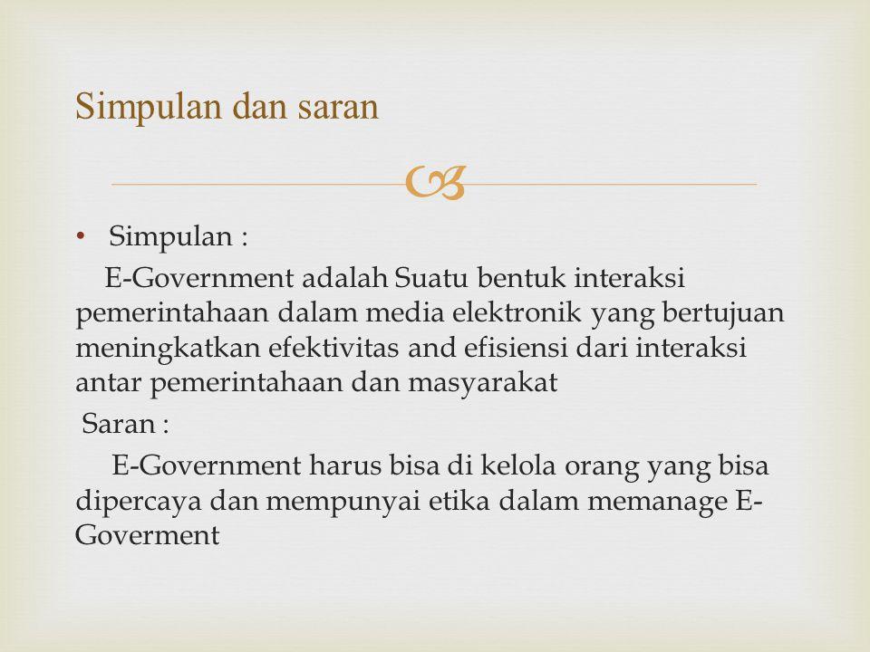 Simpulan dan saran Simpulan :