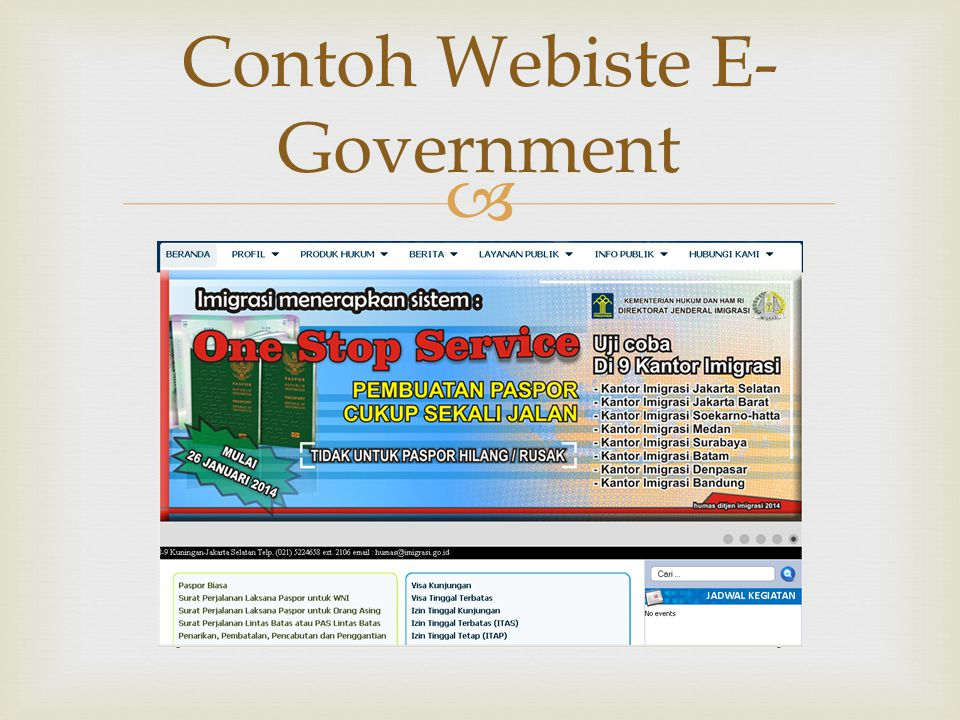 Contoh Webiste E-Government