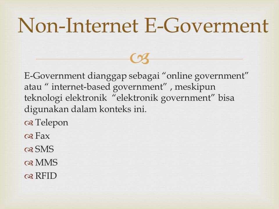Non-Internet E-Goverment