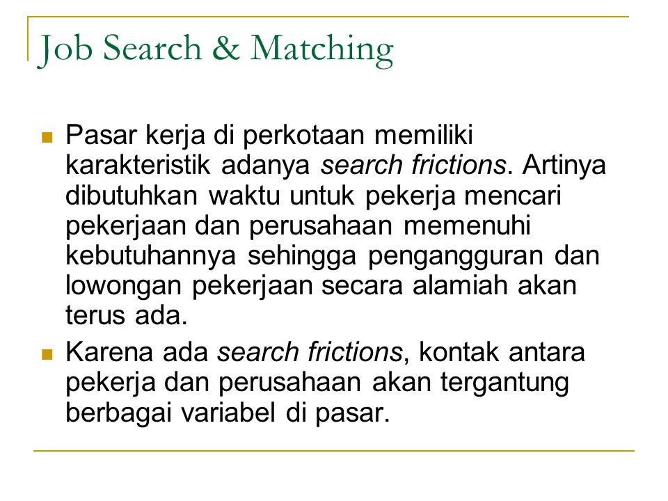 Job Search & Matching