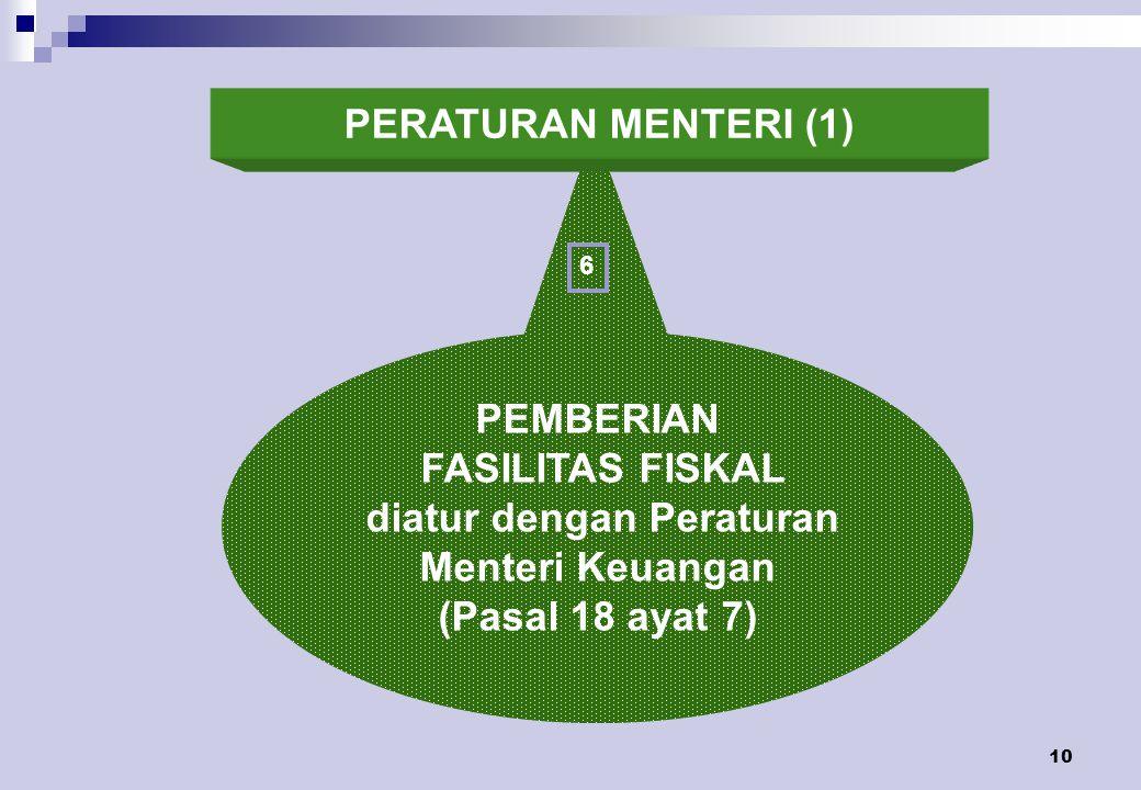 diatur dengan Peraturan Menteri Keuangan