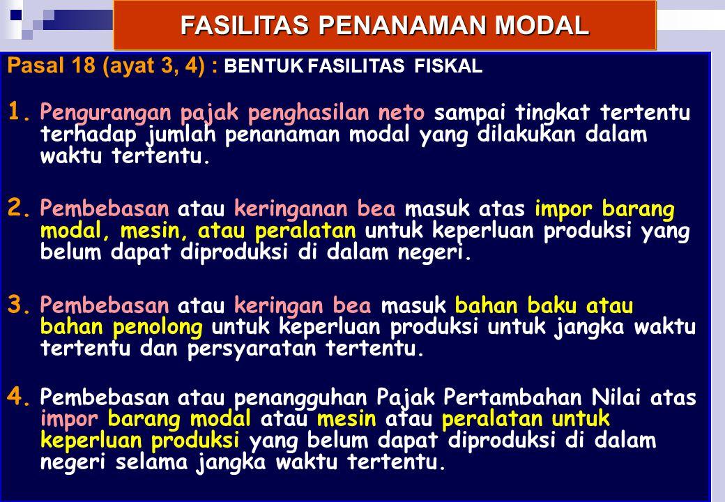 FASILITAS PENANAMAN MODAL