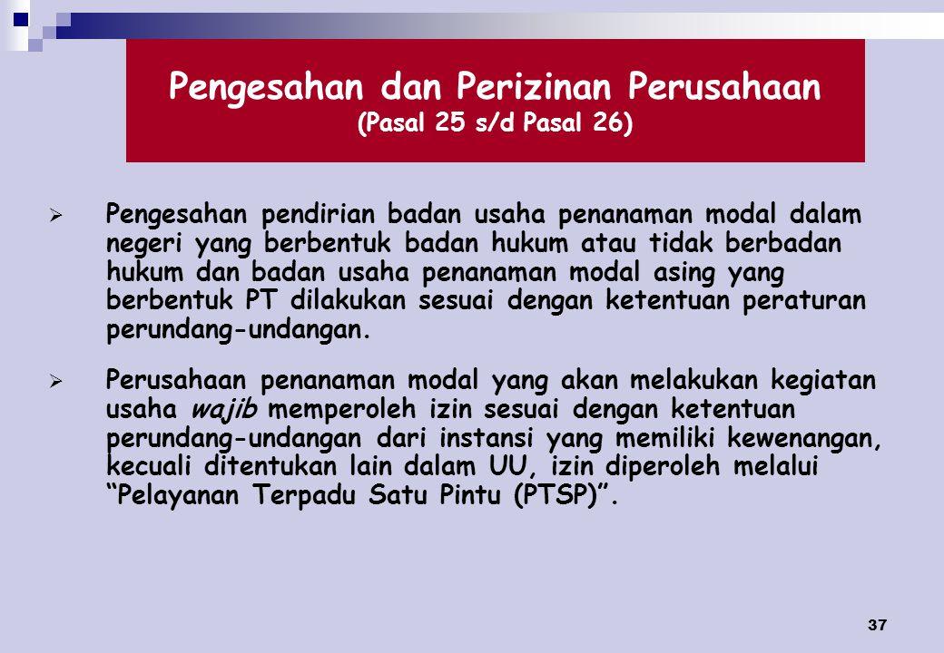 Pengesahan dan Perizinan Perusahaan (Pasal 25 s/d Pasal 26)