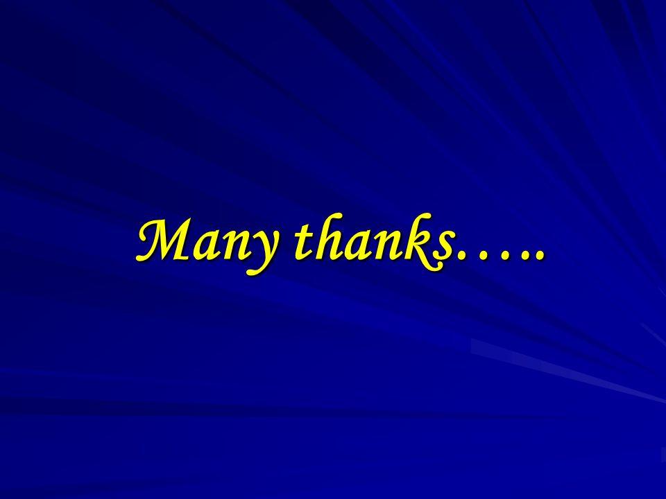 Many thanks…..