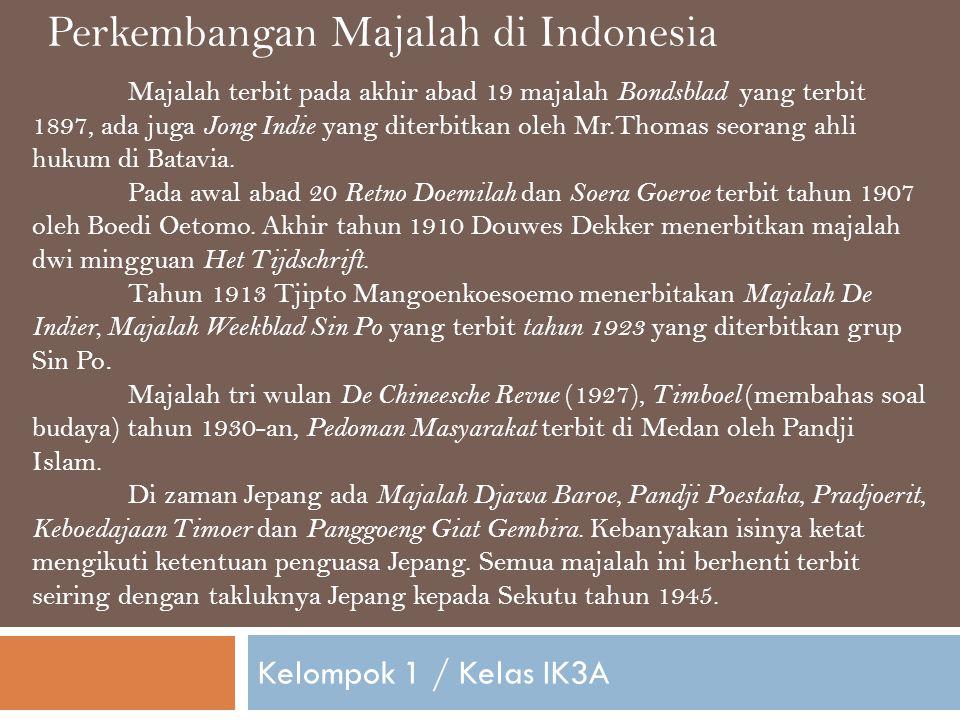 Perkembangan Majalah di Indonesia