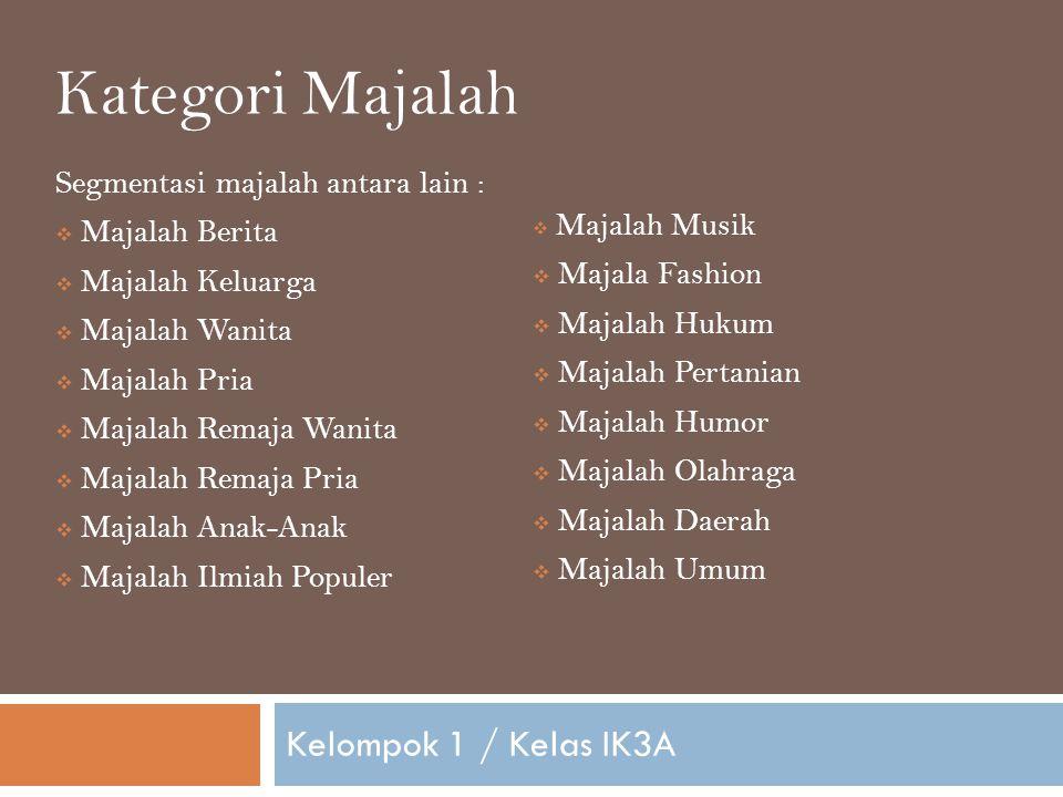 Kategori Majalah Kelompok 1 / Kelas IK3A
