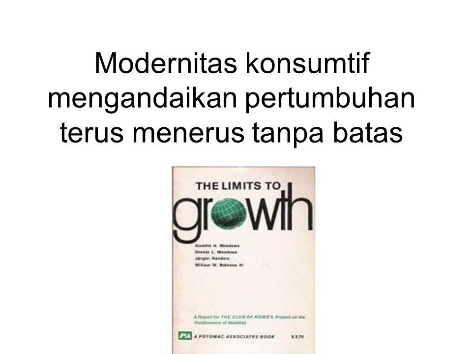 Modernitas konsumtif mengandaikan pertumbuhan terus menerus tanpa batas