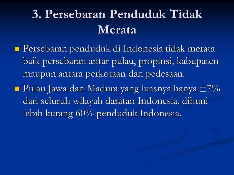 3. Persebaran Penduduk Tidak Merata