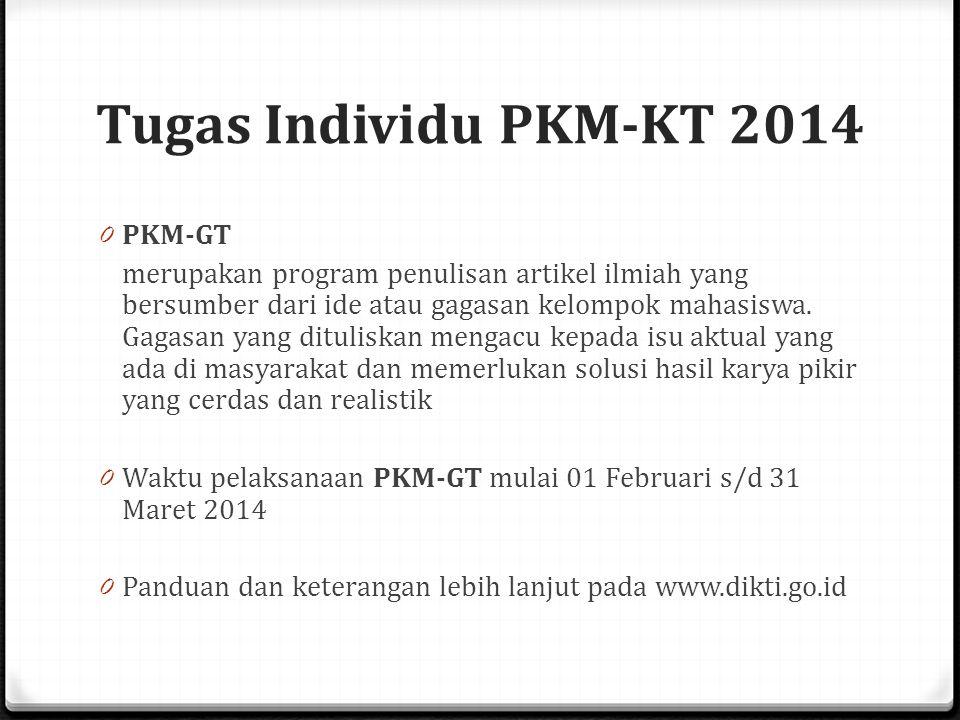 Tugas Individu PKM-KT 2014 PKM-GT