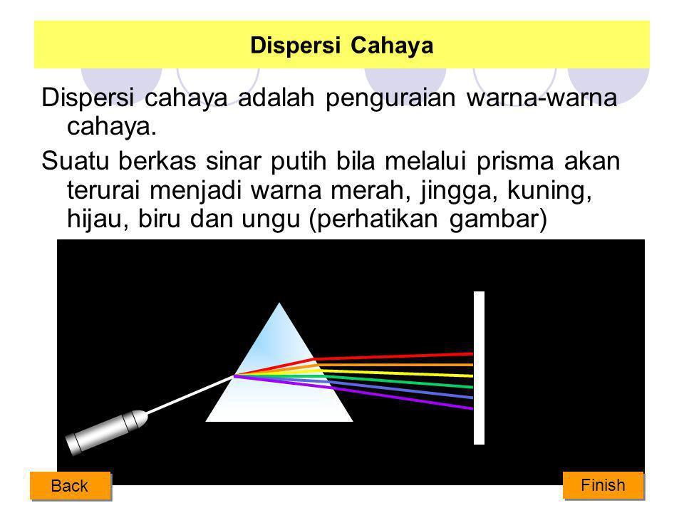 Dispersi cahaya adalah penguraian warna-warna cahaya.
