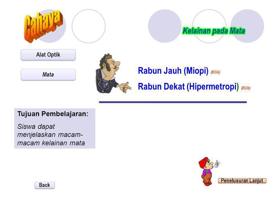 Cahaya Rabun Jauh (Miopi) (Klik) Rabun Dekat (Hipermetropi) (Klik)