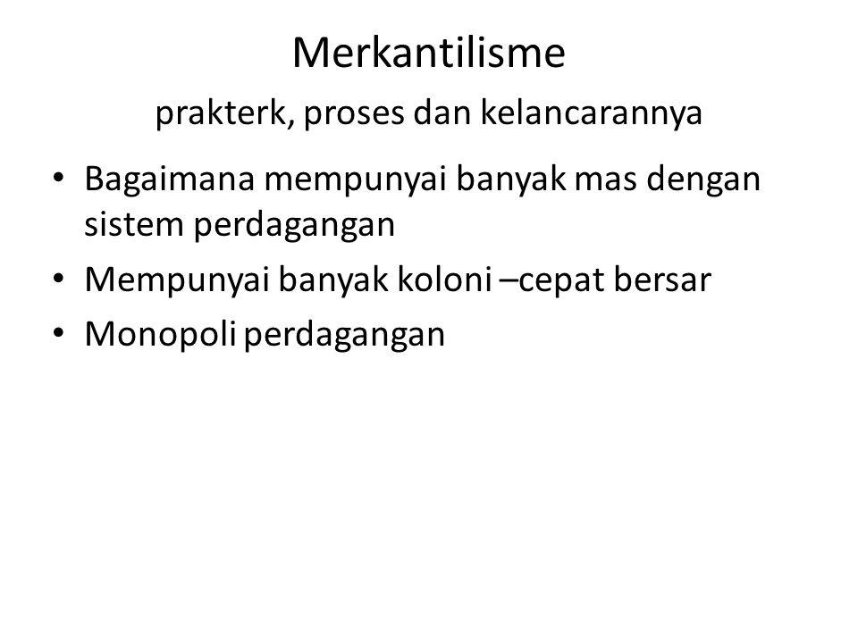 Merkantilisme prakterk, proses dan kelancarannya