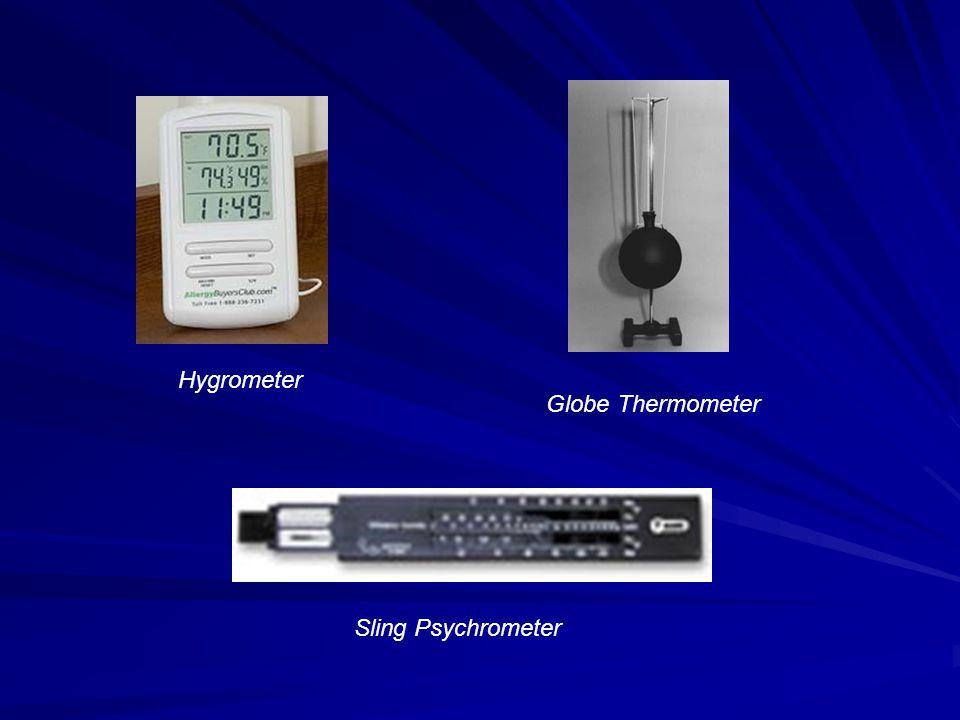 Hygrometer Globe Thermometer Sling Psychrometer