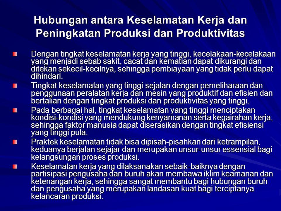 Hubungan antara Keselamatan Kerja dan Peningkatan Produksi dan Produktivitas