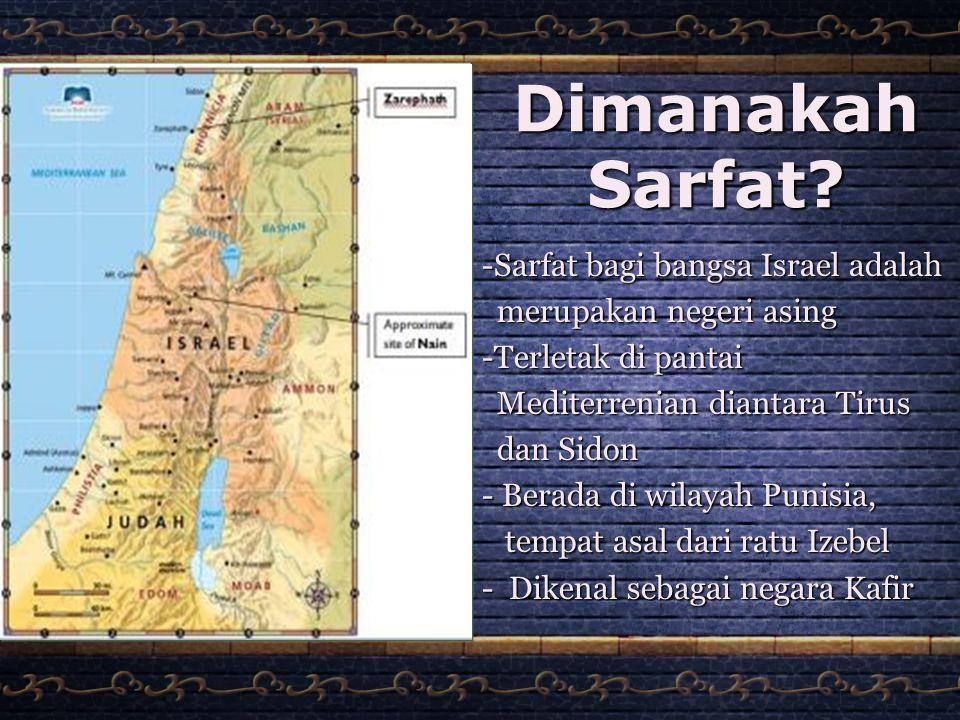 Dimanakah Sarfat Sarfat bagi bangsa Israel adalah