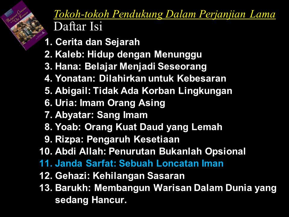 Daftar Isi Tokoh-tokoh Pendukung Dalam Perjanjian Lama
