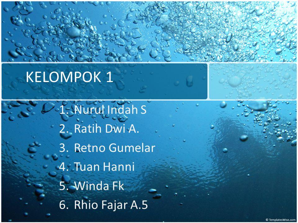 KELOMPOK 1 Nurul Indah S Ratih Dwi A. Retno Gumelar Tuan Hanni