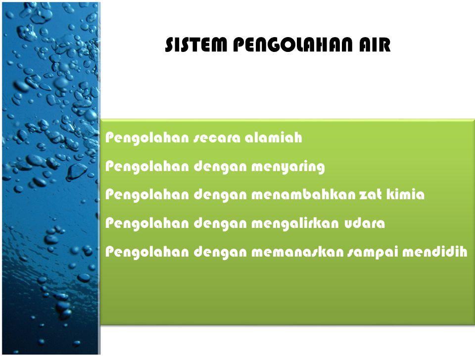 SISTEM PENGOLAHAN AIR Pengolahan secara alamiah