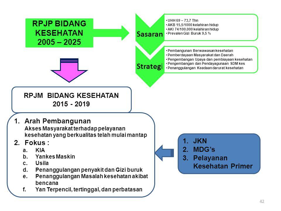 RPJM BIDANG KESEHATAN 2015 - 2019