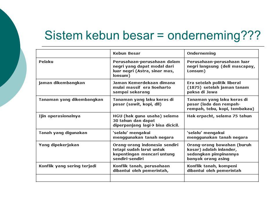Sistem kebun besar = onderneming