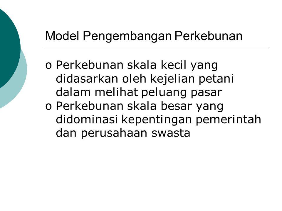 Model Pengembangan Perkebunan