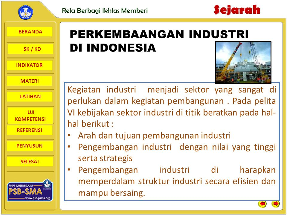 PERKEMBAANGAN INDUSTRI DI INDONESIA