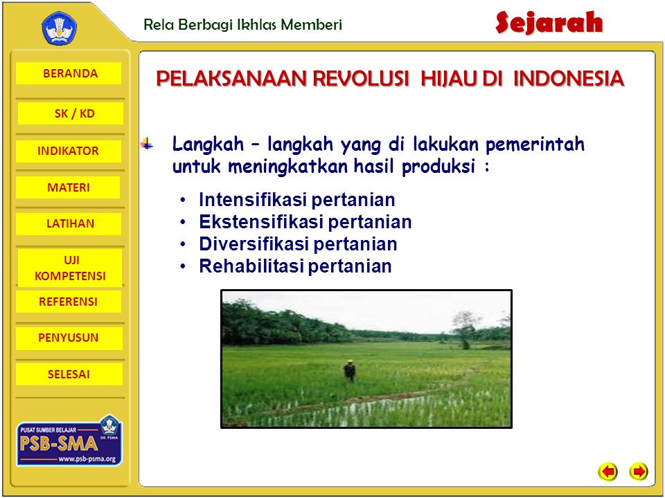 PELAKSANAAN REVOLUSI HIJAU DI INDONESIA